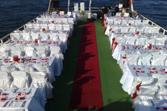 Wedding Party on the Bosphorus / Istanbul / Turkey